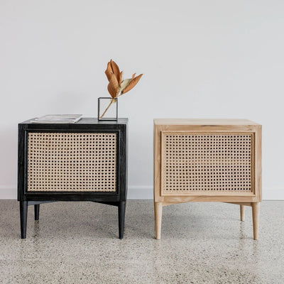 rattan bedside tables nightstand cane furniture rattan side table new zeland corcovado furniture auckland christchurch wellington