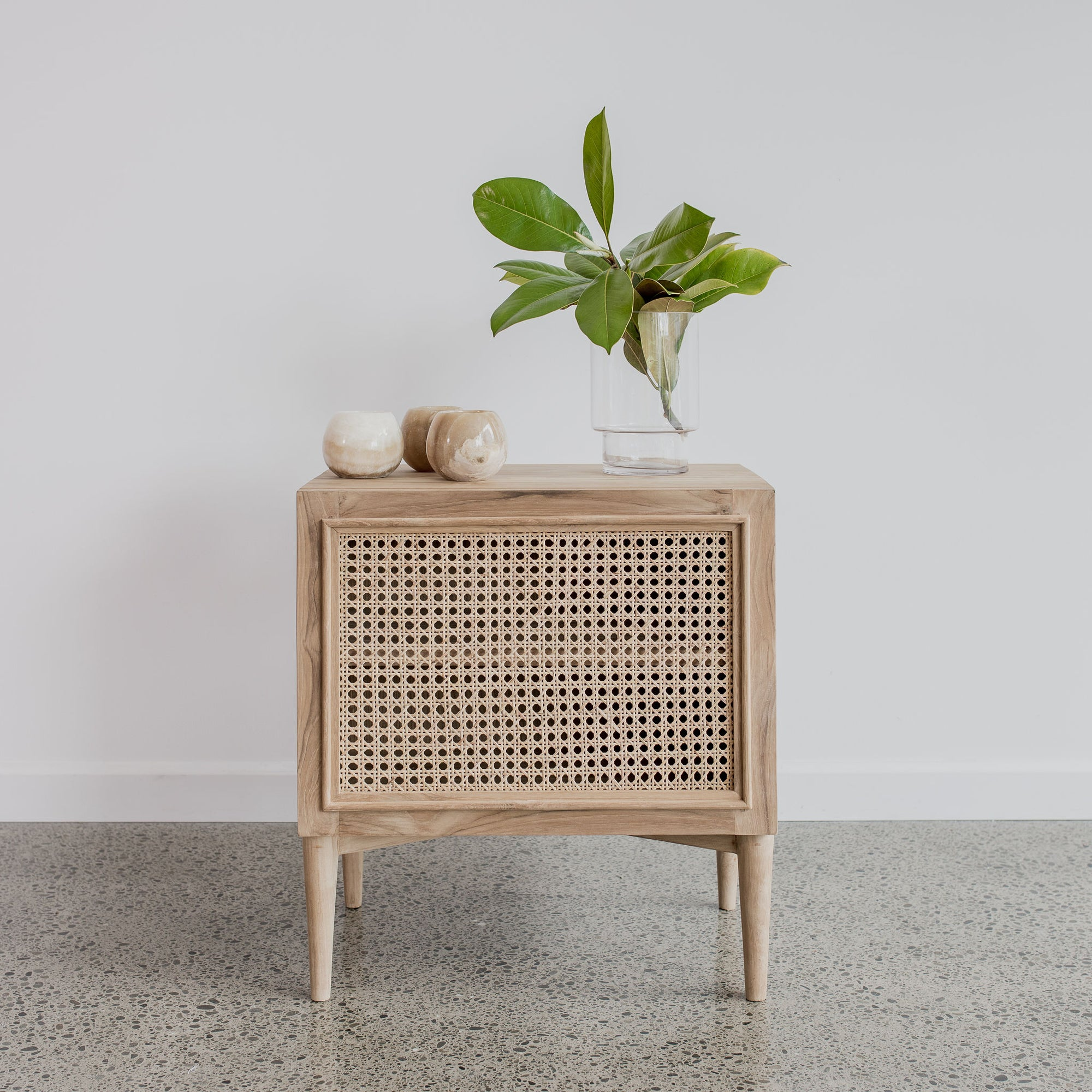 Rattan Bedside Table Natural Corcovado