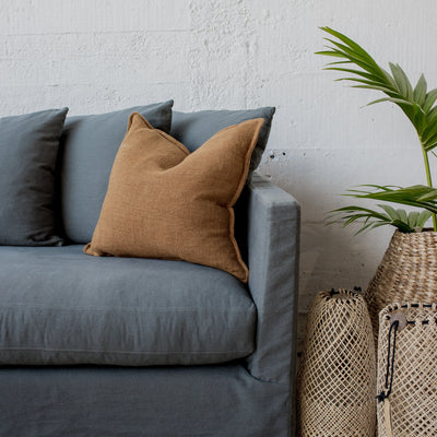 Nutmeg Linen Feather Cushion