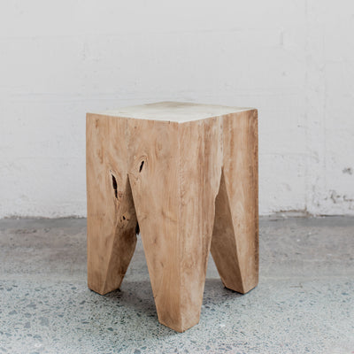 Rustic Teak Side Table