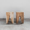 rustic teak side table corcovado furniture new zealand