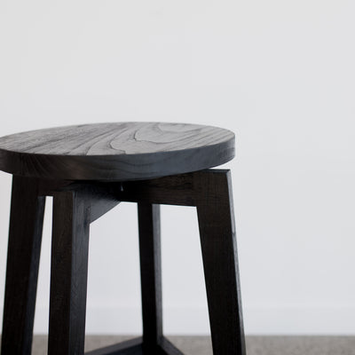 black wood bar stool kitchen stool black corcovado nz