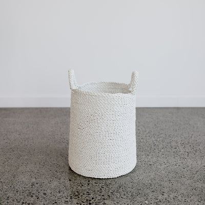 white small laundry basket homewares white basket grey lynn auckland corcovado furniture christchurch