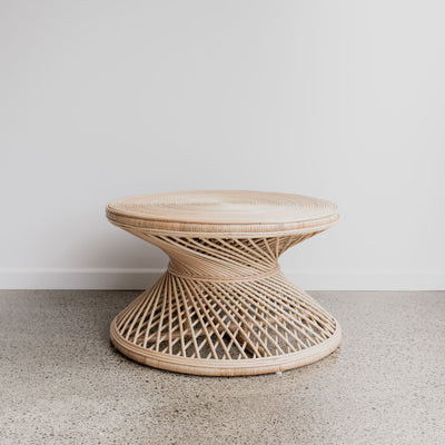 rattan twist coffee table corcovado furniture new zealand