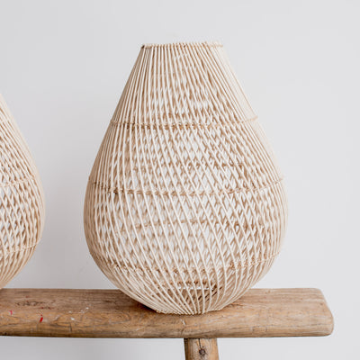 pear rattan pendant small ceiling light corcovado furniture and lighting new zealand