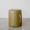 round leather pouff ottoman corcovado furniture auckland christchurch