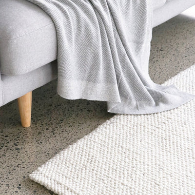 white wool floor rig mat corcovado furniture auckland new zealand