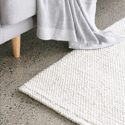 white wool floor rug mat corcovado furniture auckland new zealand