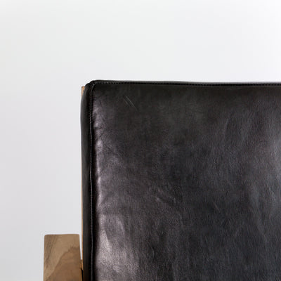 Black Leather Occasional Chair