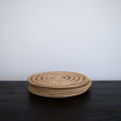 Round Rattan Placemat (Natural)