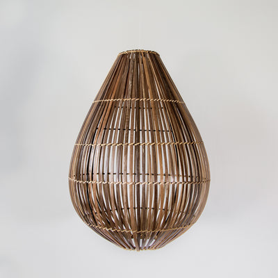 bamboo ceiling light can wicker pendant large lighting auckland christchurch corcovado nz