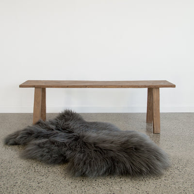Long Haired, Grey Icelandic Sheepskin