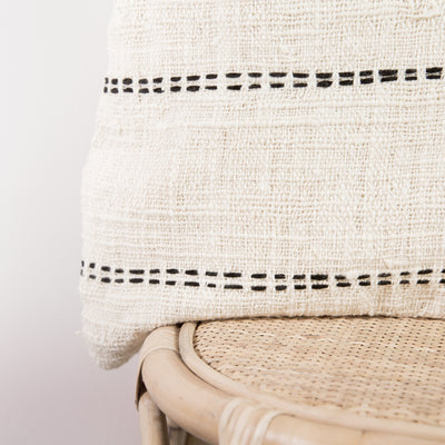 Cream and Black Striped Cushion Cover (50cm x 50cm)