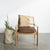 rattan leather arm chair nz