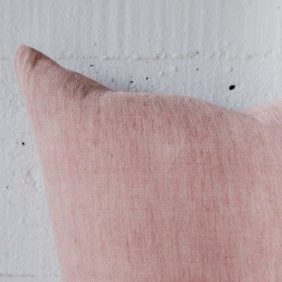 dusty pink feather cushion from corcovado furniture and homewares store ponsonby christchurch