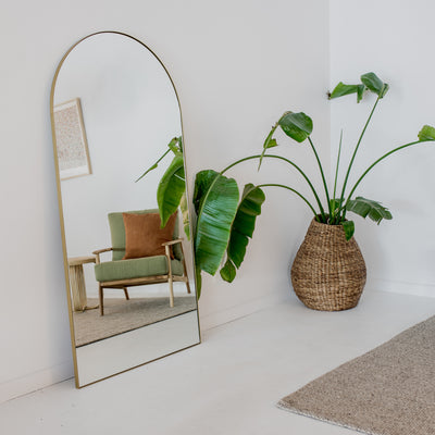 arch brass mirror xl new zealand made floor oversized mirror corcovado furniture new zealand