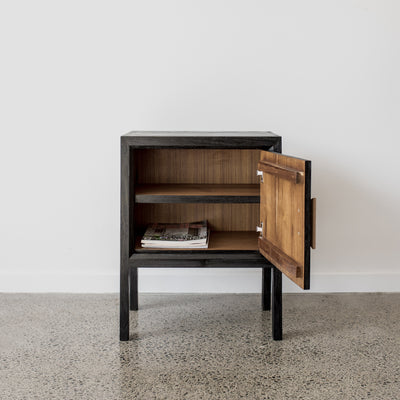black tor bedside table by corcovado furniture new zealand