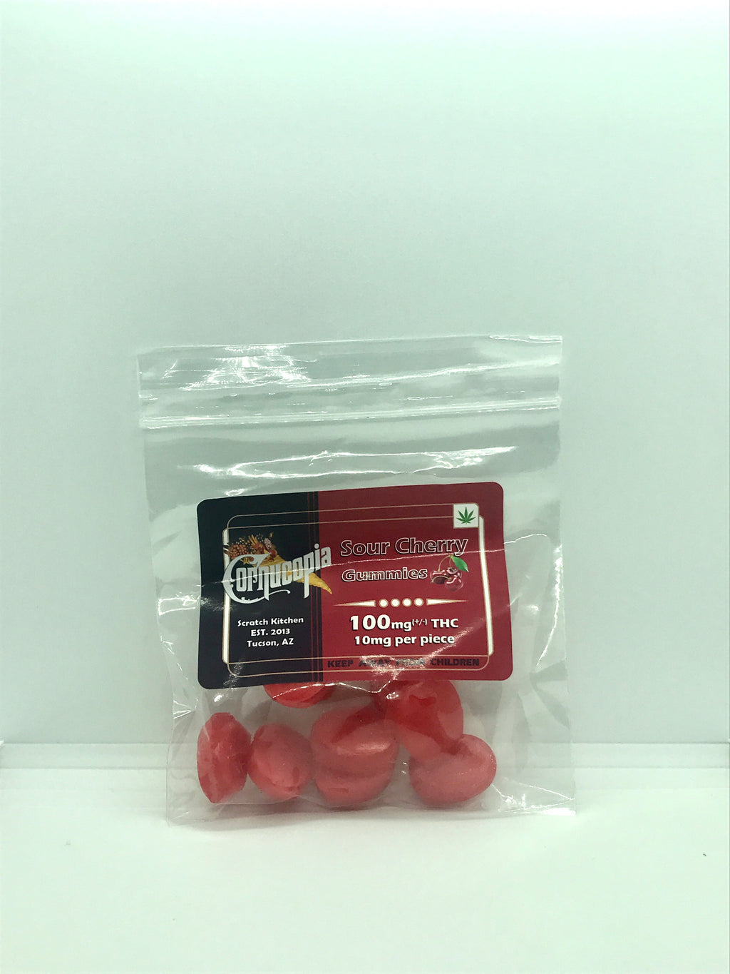 Gummie Rounds Sour Cherry 100mg