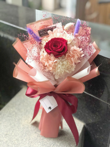 小驚喜迷你保鮮紅瑰花束 Mini Surprise Red Preserved Rose Bouquet