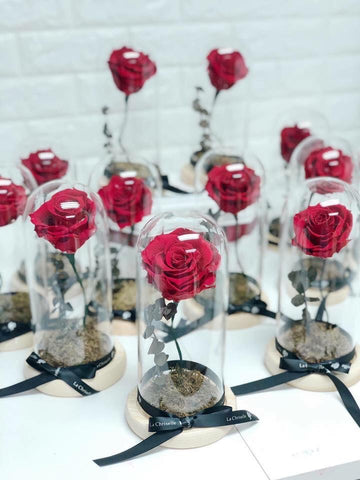 美女與野獸之玫瑰 Red Beauty and the Beast Preserved Rose Flower