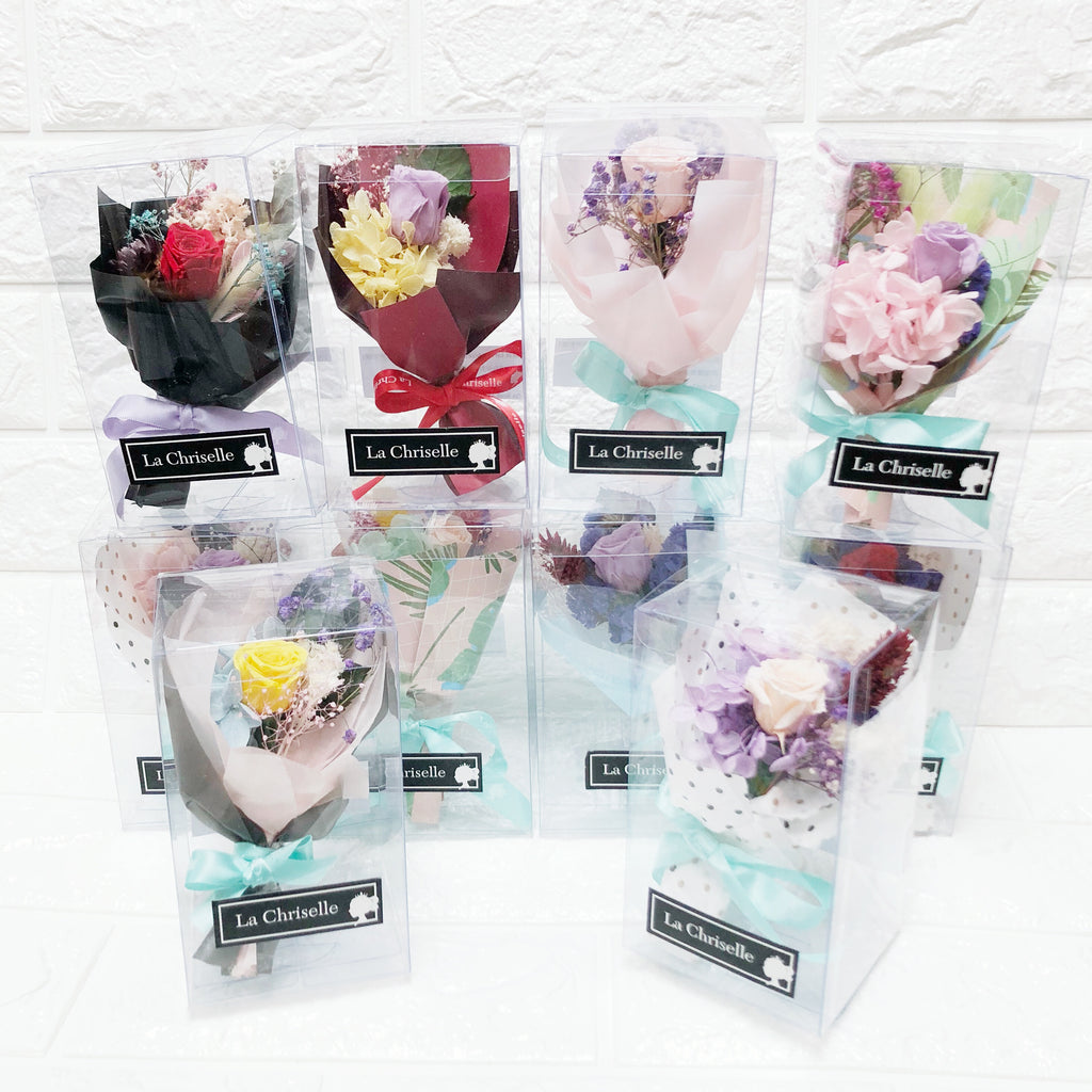 迷你保鮮花束十盒 Mini Preserved Flowers Bouquets 10 boxes