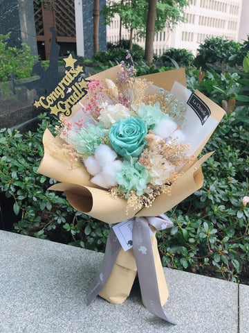 文青風畢業保鮮花束 Graduation Preserved Flower Bouquet
