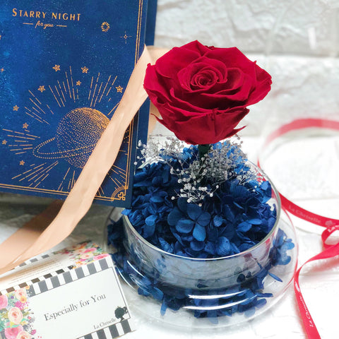 星空中的玫瑰保鮮花禮 Starry Night Red Preserved Flower