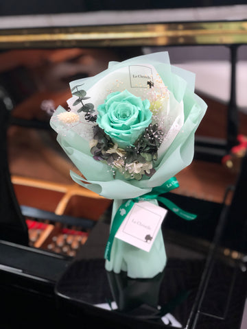 Tiffany Blue 迷你保鮮玫瑰花束 Mini Surprise Preserved Rose Bouquet