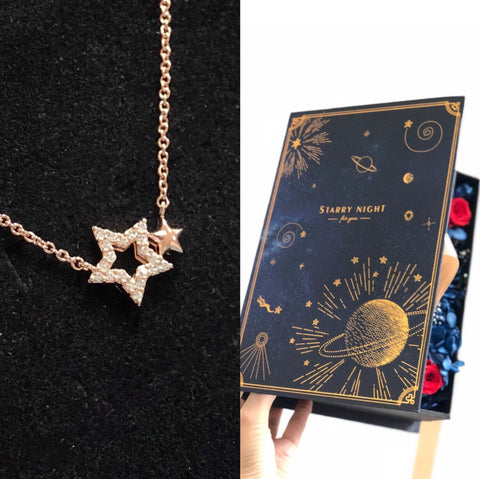 星空情書花盒版傾情幸運星頸鏈 Twin Stars Necklace