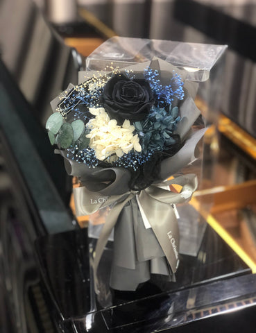 迷你黑色保鮮玫瑰花束 Mini Surprise Black Preserved Rose Bouquet