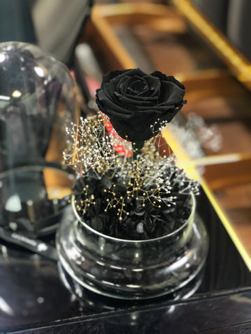 閃耀黑玫瑰花保鮮花禮  Mid Night Black Rose Preserved Flowers