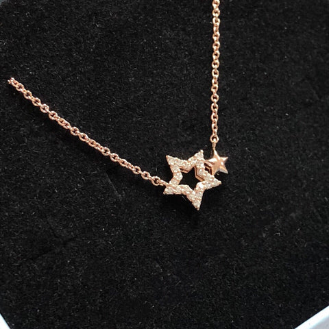 傾情幸運星頸鏈  Twin Stars Necklace