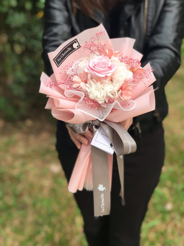 迷你粉紅色保鮮玫瑰花束 Mini Surprise  Preserved Rose Bouquet