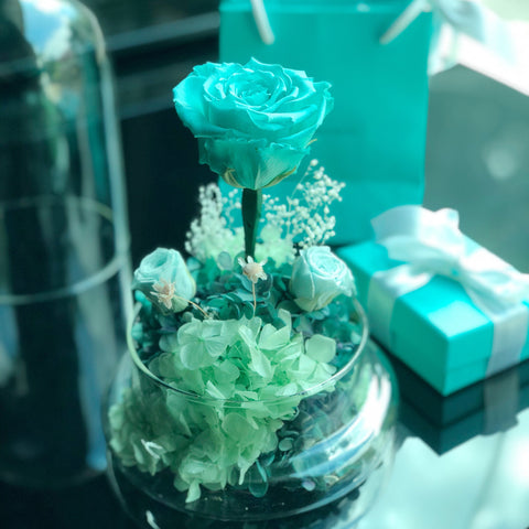 Tiffany Blue 玫瑰花園保鮮花禮 Mint Green Preserved Flowers