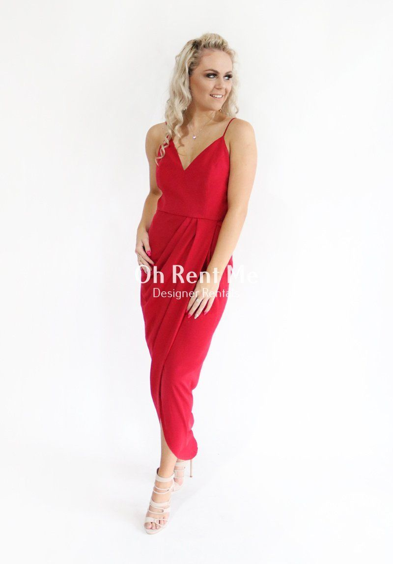 SELL - Drape Cocktail Maxi Crimson Gift Card Ex Rentals