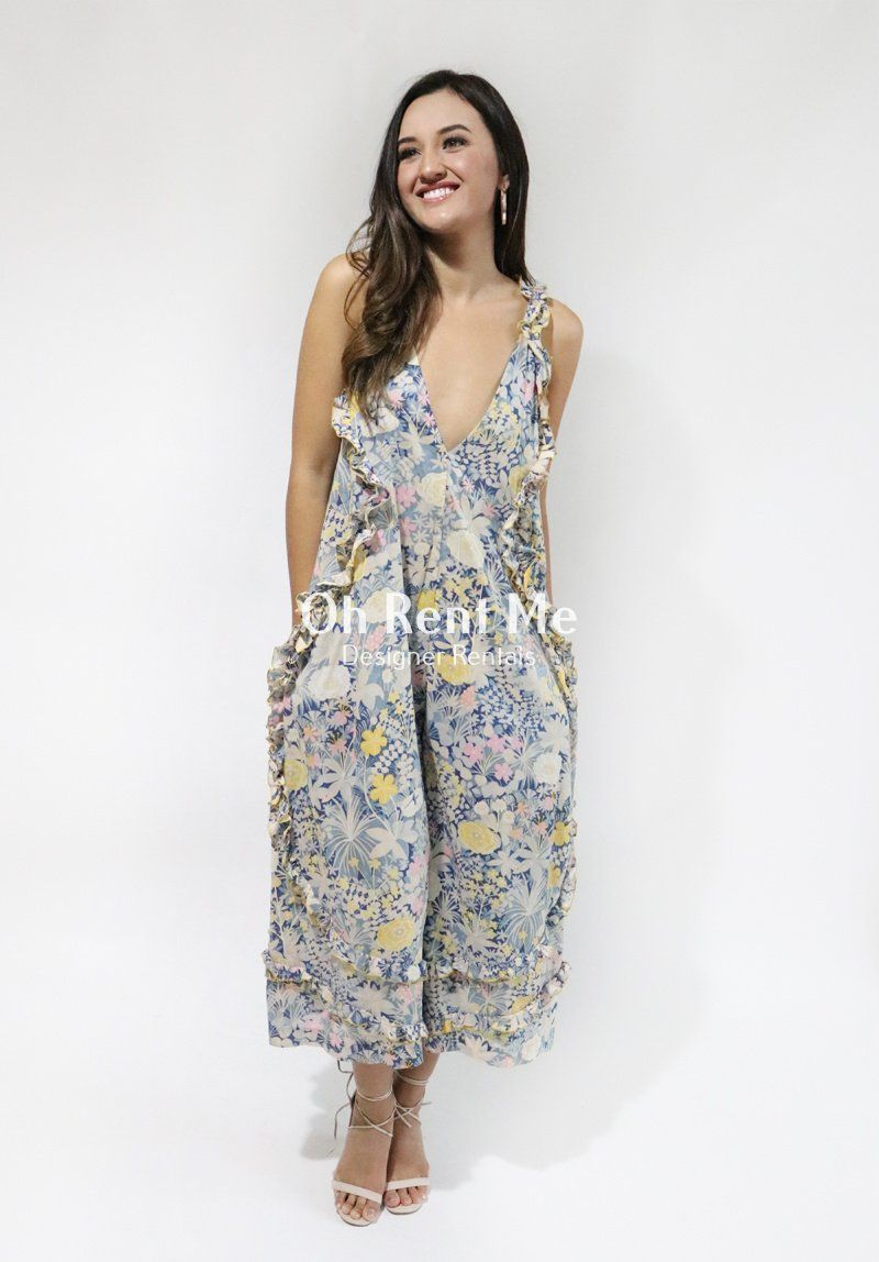 Oh Lady Jumpsuit Gold Bloom