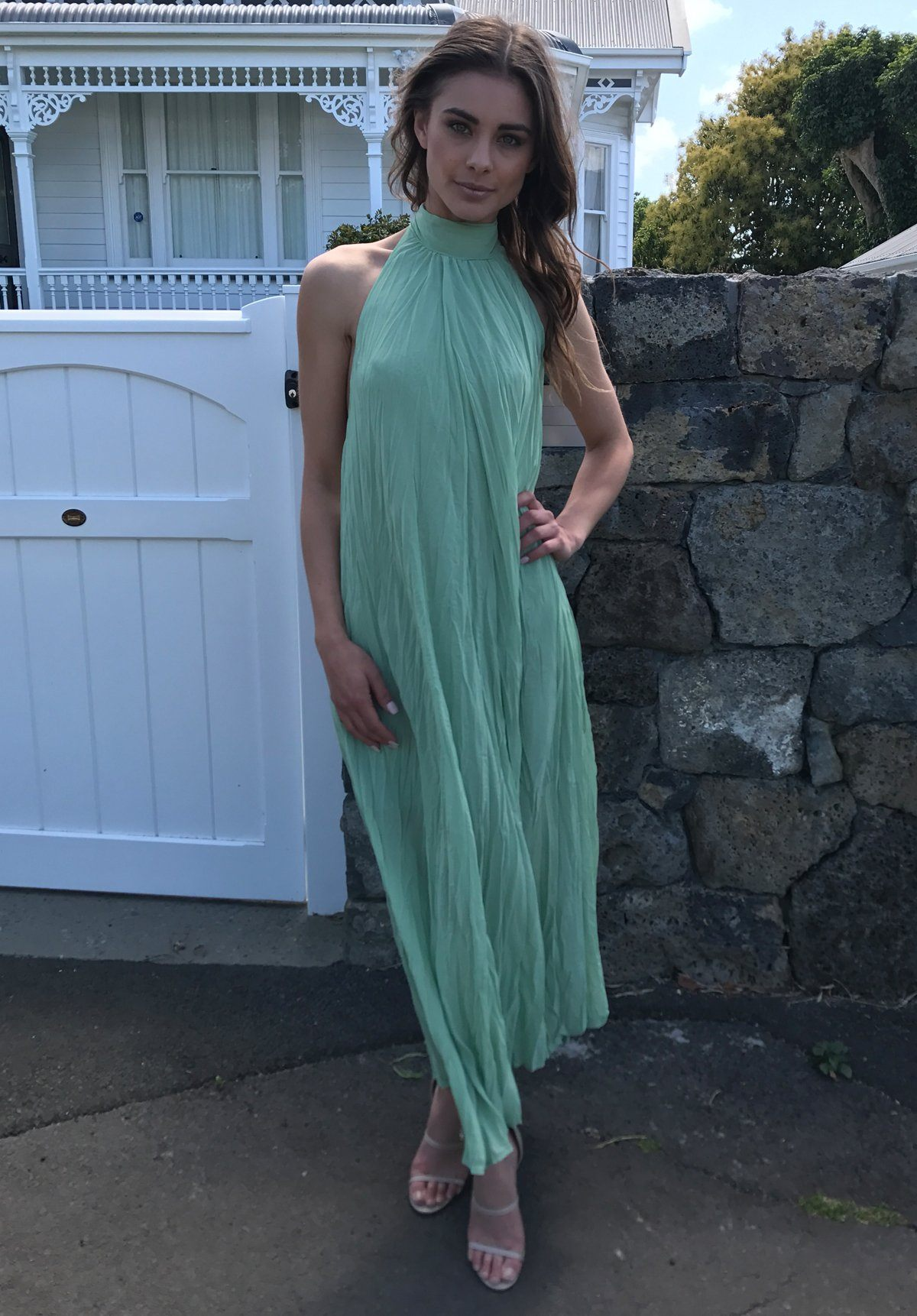 Cascade Crush Gown - Green Clothing RUBY