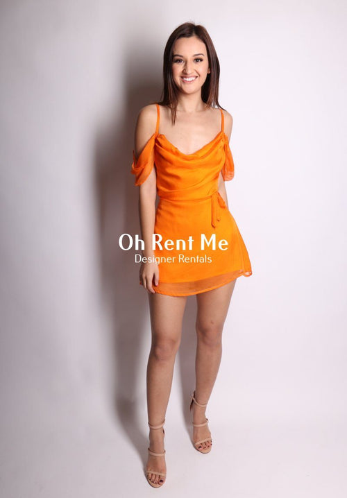 Tangerine Dream Silk - Juliet Mini Clothing Sisters The Label