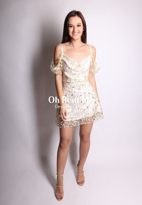 Embellished Flora Pearl Silk - Juliet Dress