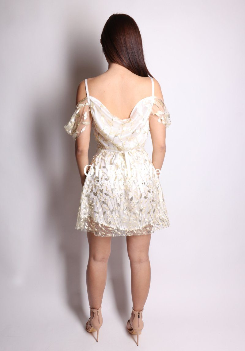 Embellished Flora Pearl Silk - Juliet Dress Clothing Sisters The Label