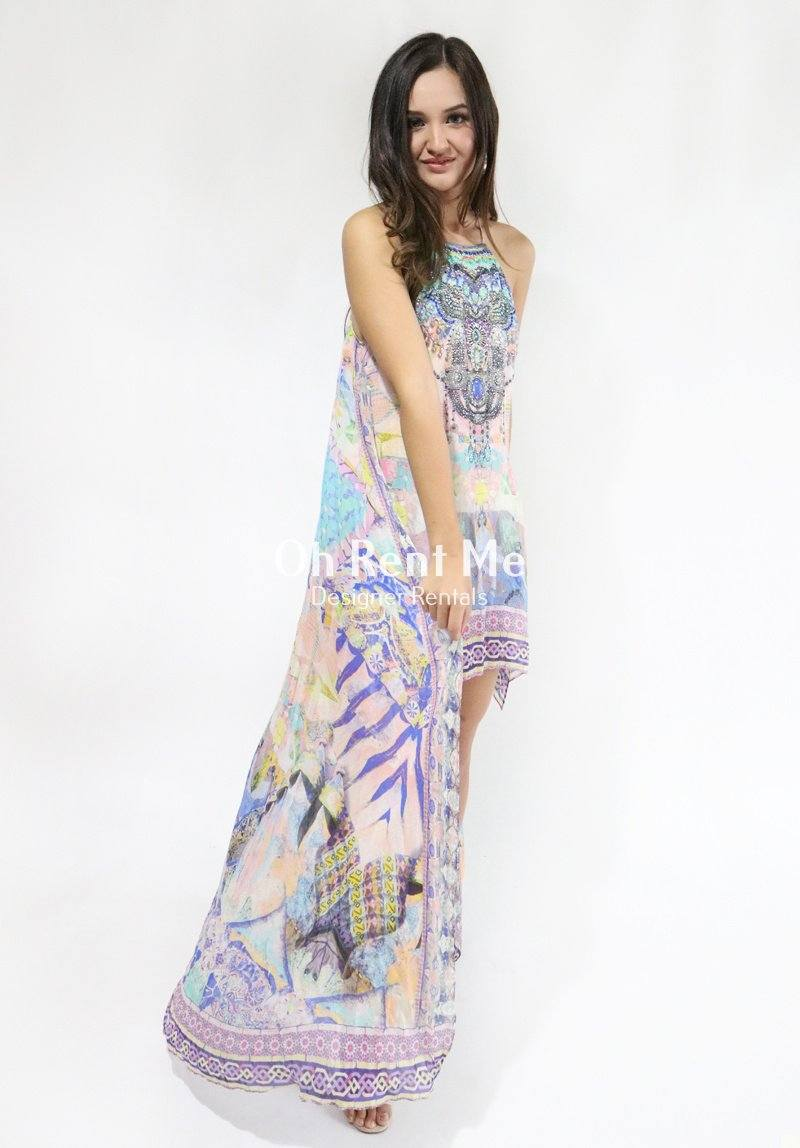 Gaudi Tribute Short Sheer Overlay Dress