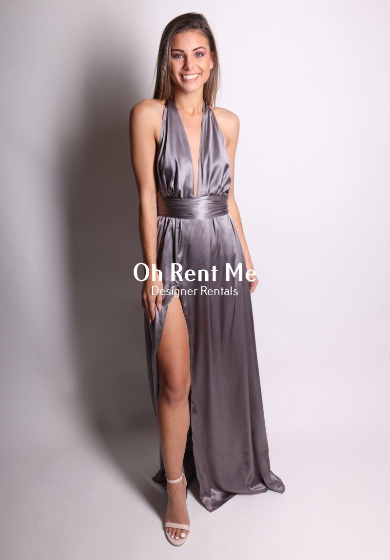 f64aa1daa6a Satin Silk Slate - Multiway Gown Clothing Sisters The Label