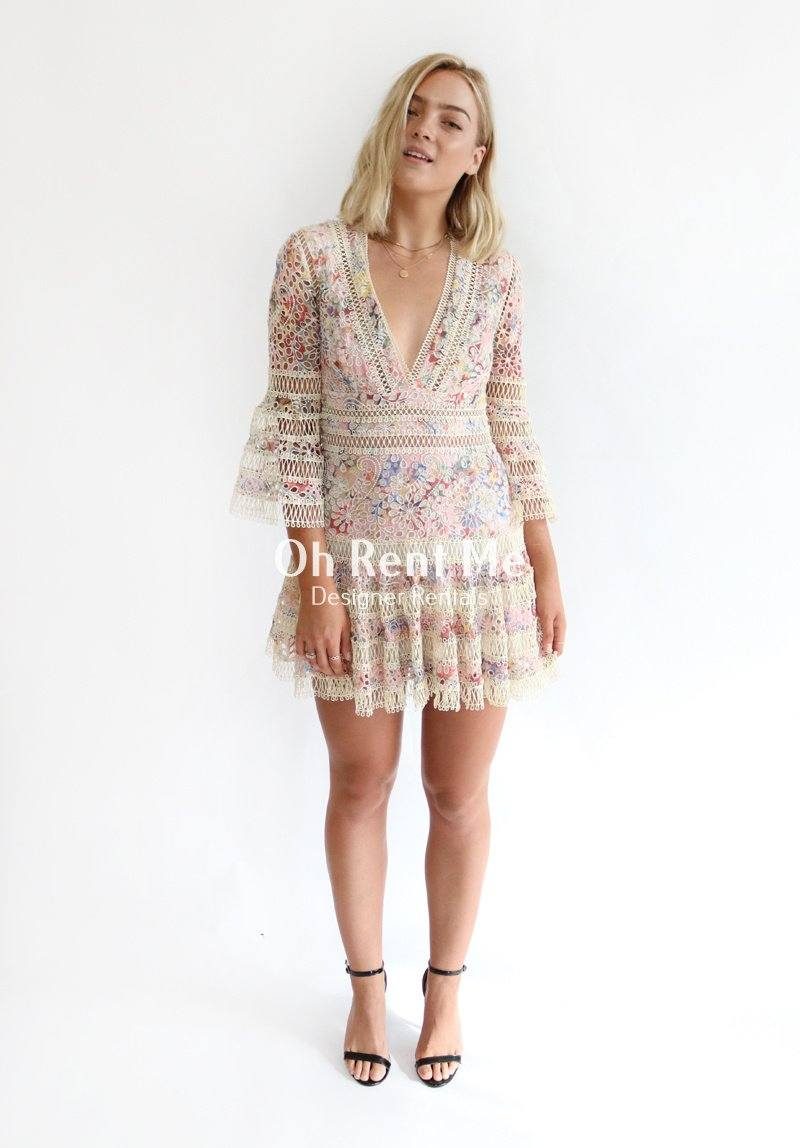 Lovelorn Floral Flutter Dress Clothing Zimmermann
