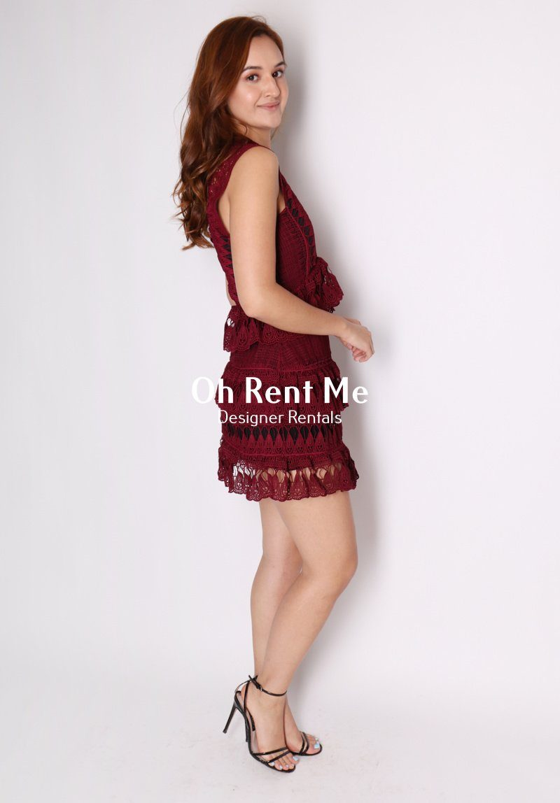 Tiered Guipere Lace Mini Dress Clothing Self Portrait