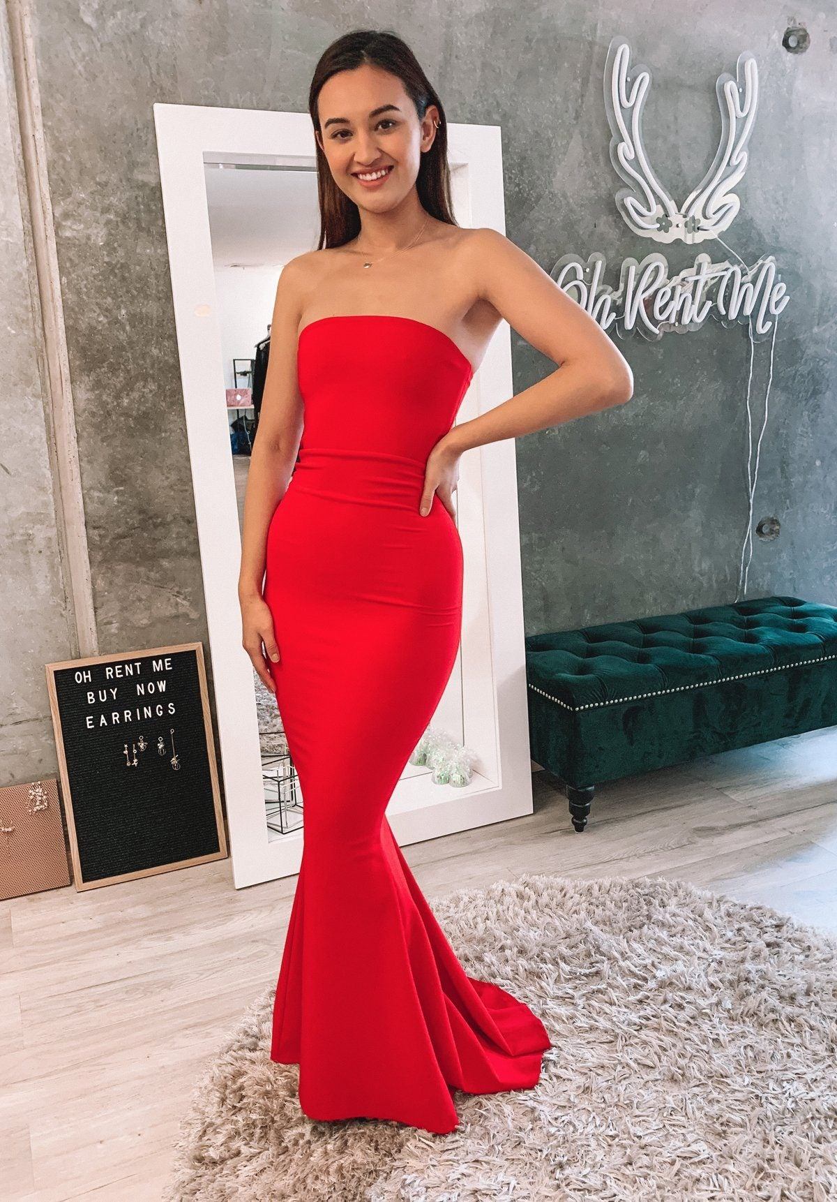 Angelina Gown - Red Clothing Nookie