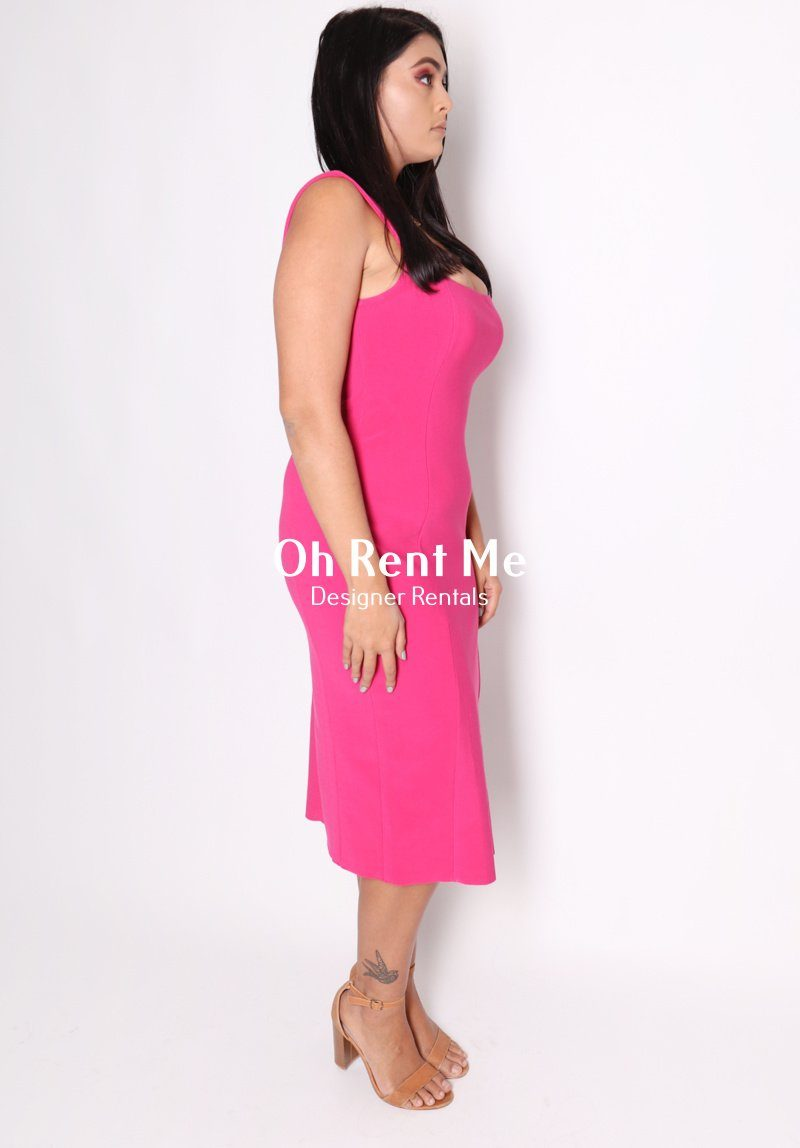 Hibiscus Midi - Magenta Clothing Bec and Bridge