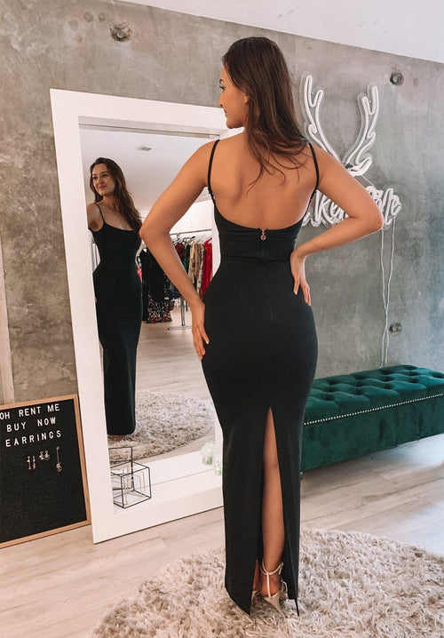Bailey Gown - Black Clothing Nookie