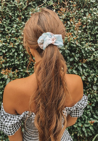 Black Flamingo Scrunchie