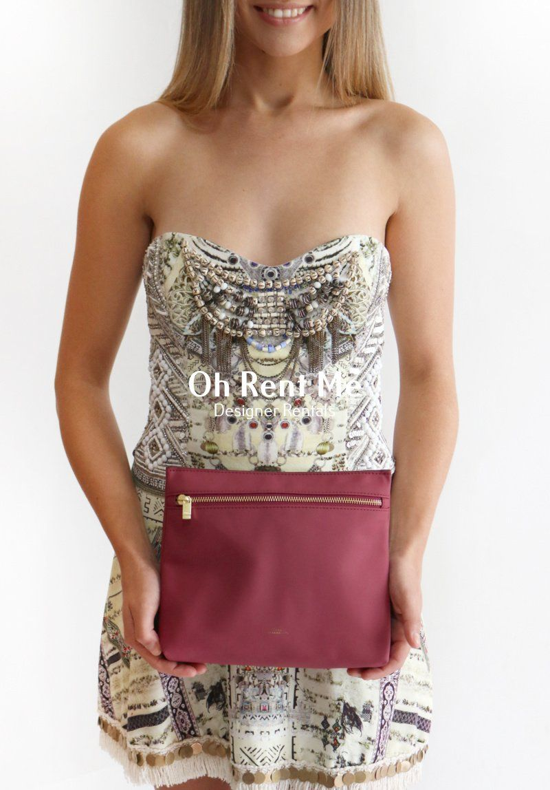 Burgundy Pouch Clothing Camilla and Marc