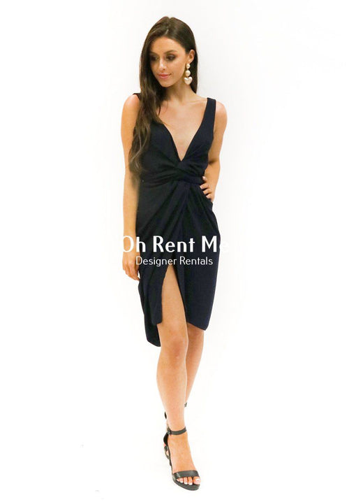 Navy Wrap Dress Clothing Turet Knuefermann